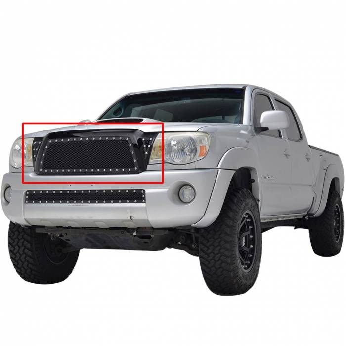 Paramount Automotive - Black Evolution Stainless Steel Wire Mesh Packaged Grille #46-0219