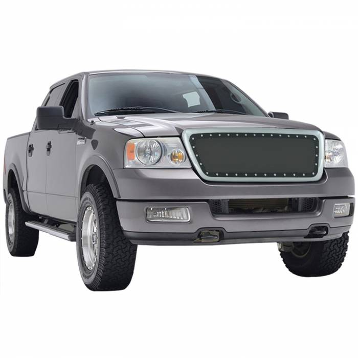 Paramount Automotive - Chrome Shell/Black Mesh Evolution Stainless Steel Wire Mesh Packaged Grille #46-0307