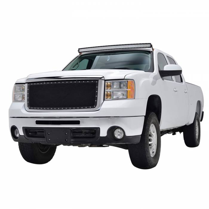 Paramount - Chrome Shell/Black Mesh Evolution Stainless Steel Wire Mesh Packaged Grille #46-0333