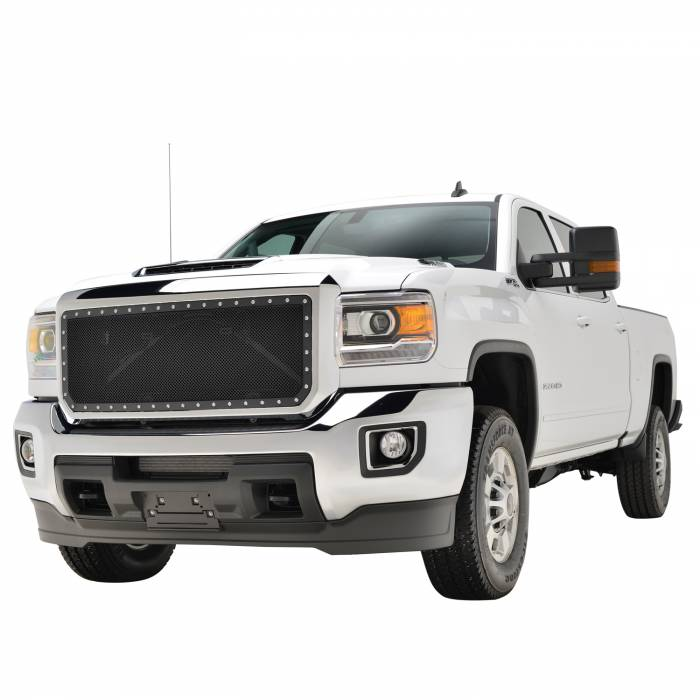 Paramount - Chrome Shell/Black Mesh Evolution Stainless Steel Wire Mesh Packaged Grille #46-0350