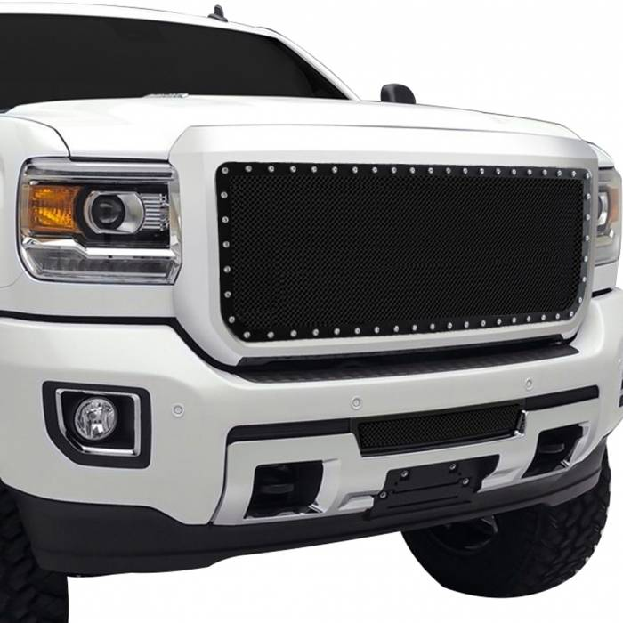 Paramount Automotive - Black Evolution Stainless Steel Wire Mesh Cutout Grille #46-0769