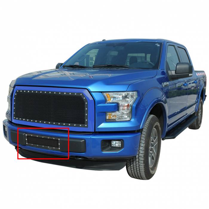 Paramount Automotive - Black Evolution Stainless Steel Wire Mesh Cutout Grille #46-0770