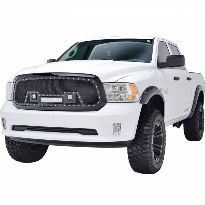 Paramount Automotive - Black Evolution Stainless Steel Wire Mesh Packaged Grille w/ LED #48-0847