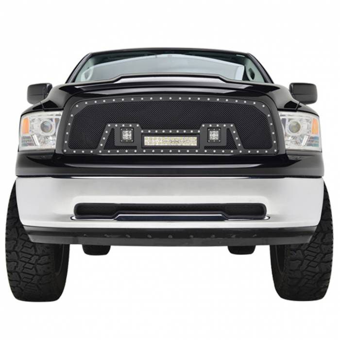 Paramount Automotive - Black Evolution Stainless Steel Wire Mesh Cutout Grille w/ LED #48-0917