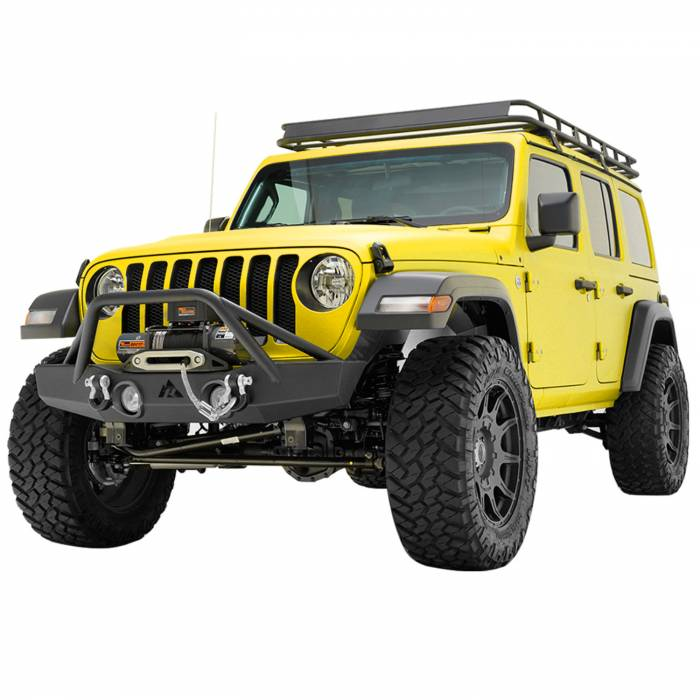 Paramount Automotive - 07-19 Jeep Wrangler JL/JK Offroad Front Bumper with OE Light Frame for OE Fog Lights #51-8009