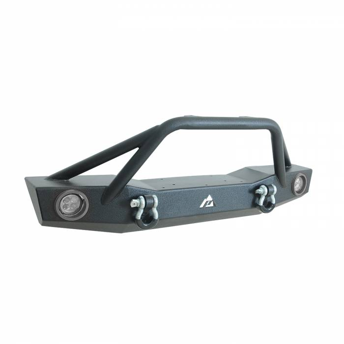 Paramount Automotive - 07-19 Jeep Wrangler JL/JK Offroad Front Bumper with Two 12W LED Lights and Color Light Frame #51-8008