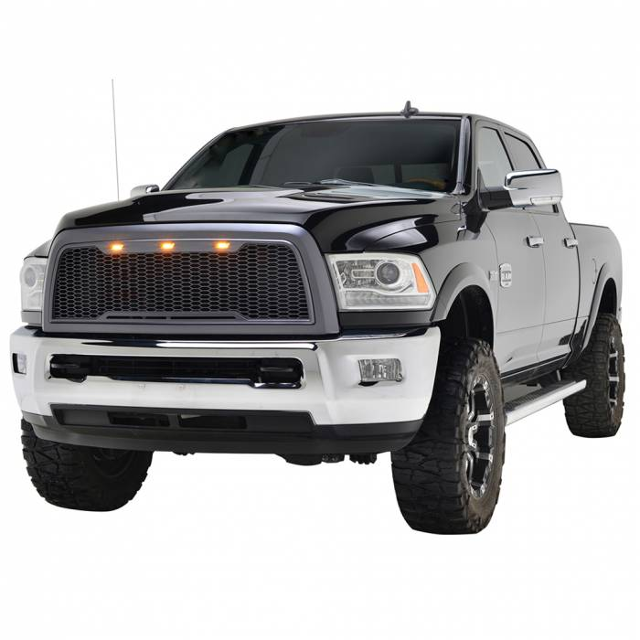 Paramount Automotive - ABS LED Metallic Charcoal Gray Impulse Mesh Packaged Grille #41-0175MCG