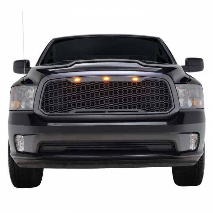 Paramount - ABS LED Metallic Charcoal Gray Impulse Mesh Packaged Grille #41-0183MCG