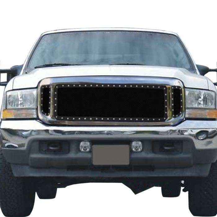 Paramount Automotive - Black Evolution Stainless Steel Wire Mesh Cutout Grille #46-0705