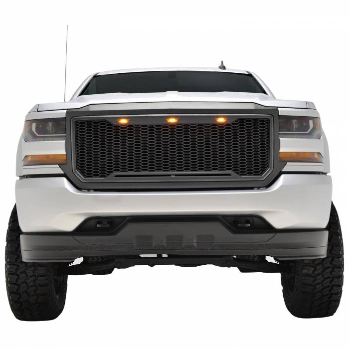 Paramount - ABS LED Matte Black Impulse Packaged Grille #41-0193MB