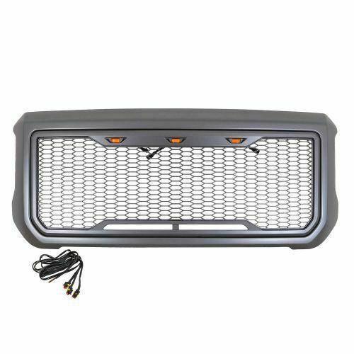 Paramount - ABS LED Metallic Charcoal Gray Impulse Mesh Packaged Grille #41-0204MCG