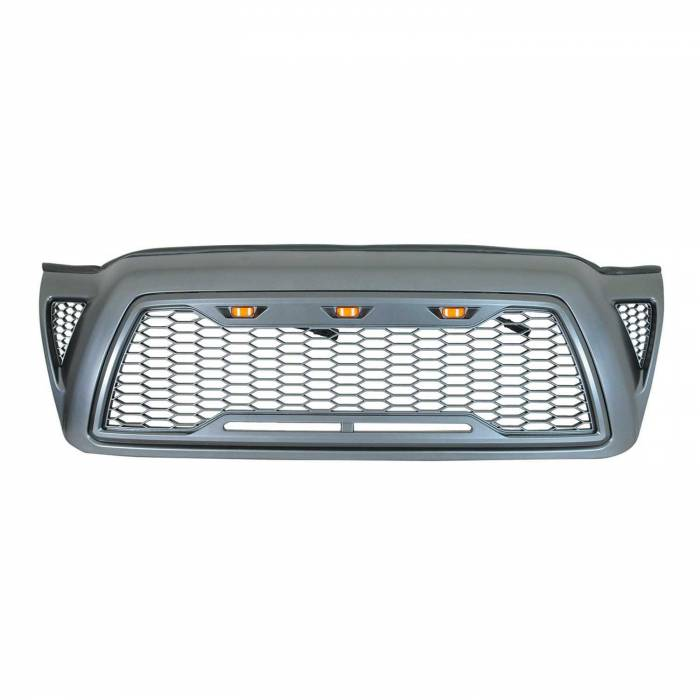Paramount - ABS LED Metallic Charcoal Gray Impulse Mesh Packaged Grille #41-0202MCG