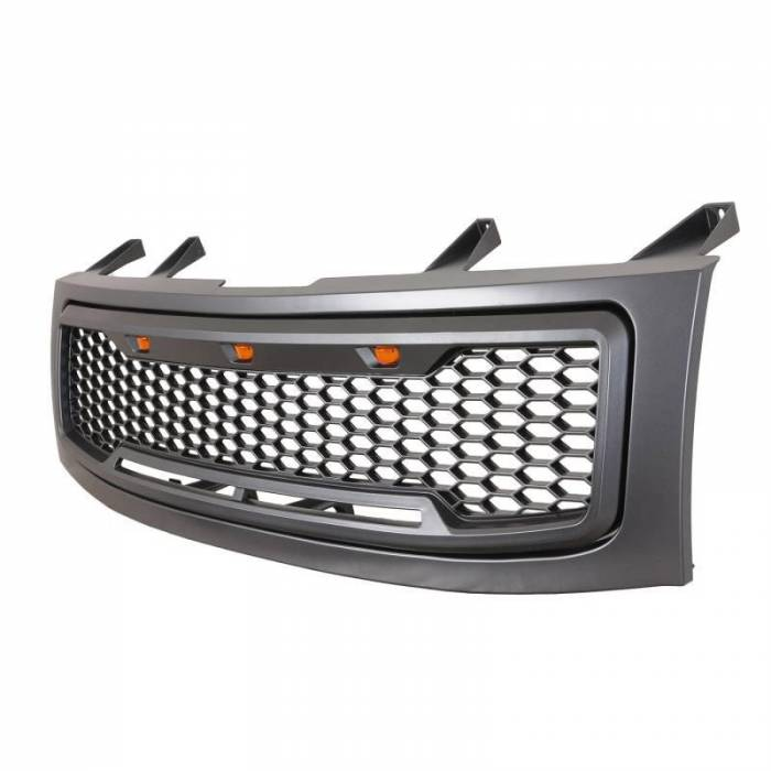 Paramount - ABS LED Metallic Charcoal Gray Impulse Mesh Packaged Grille #41-0203MCG