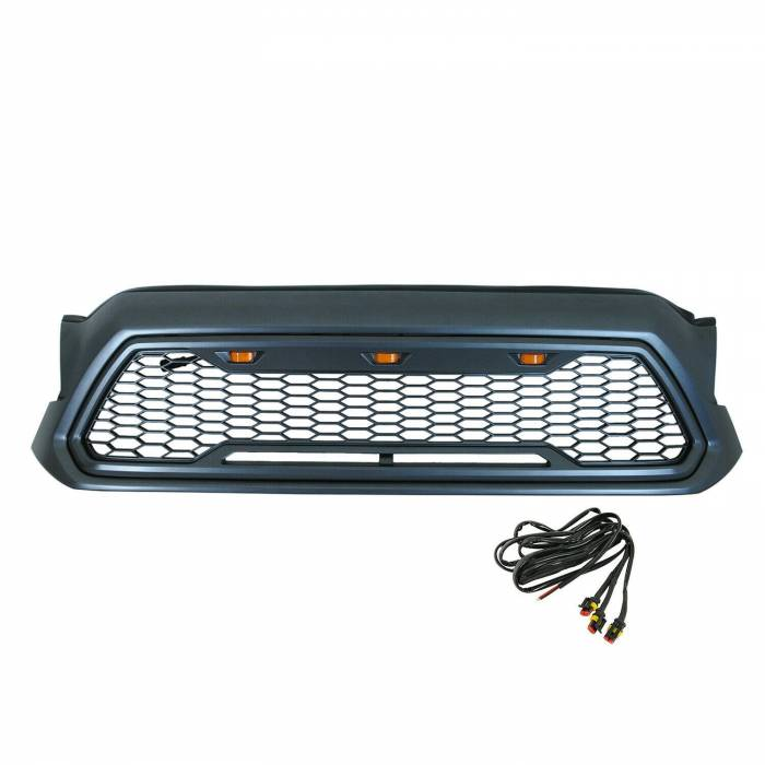 Paramount - ABS LED Metallic Charcoal Gray Impulse Mesh Packaged Grille #41-0201MCG