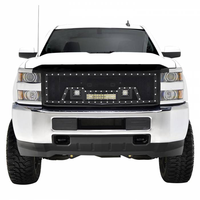 Paramount - Black Evolution Stainless Steel Wire Mesh Packaged Grille w/ LED #48-0853