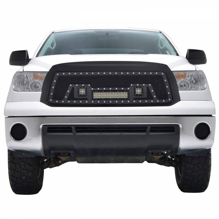 Paramount - Black Evolution Stainless Steel Wire Mesh Packaged Grille w/ LED #48-0836