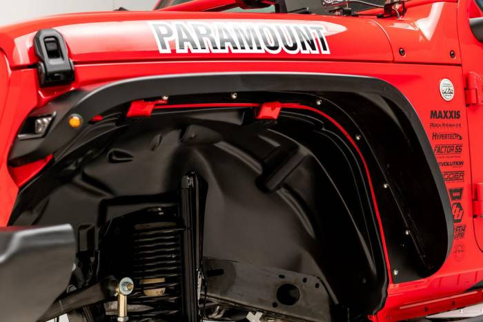 Paramount - Paramount 81-21202 Front Plastic Inner Fender Liners 18-20 Jeep Wrangler JL/JT (2pc)