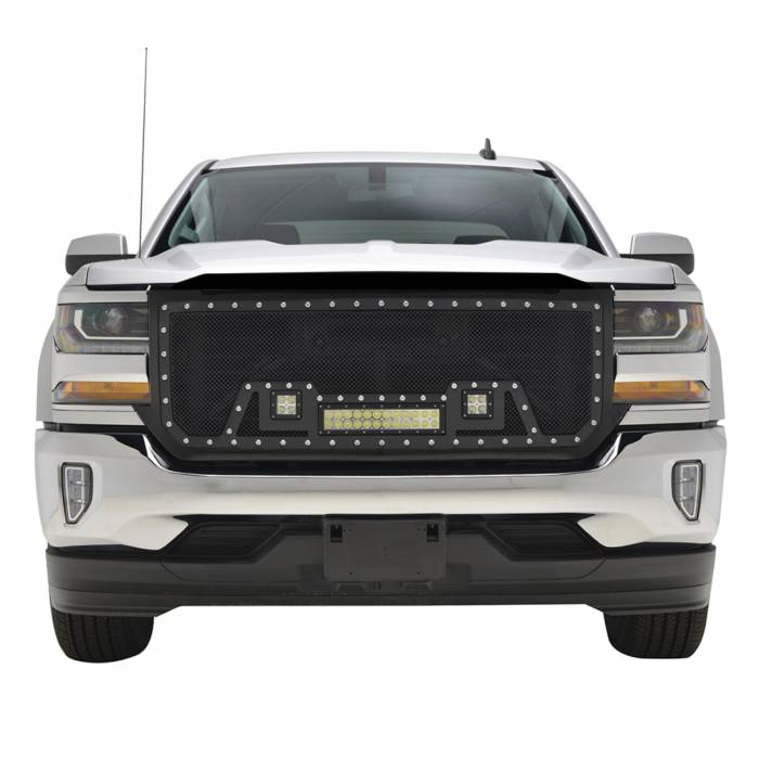 Paramount - Black Evolution Stainless Steel Wire Mesh Packaged Grille w/ LED #48-0854