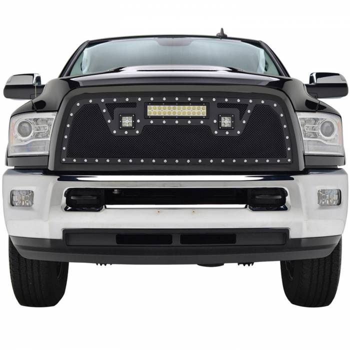 Paramount - Black Evolution Stainless Steel Wire Mesh Packaged Grille w/ LED #48-0848