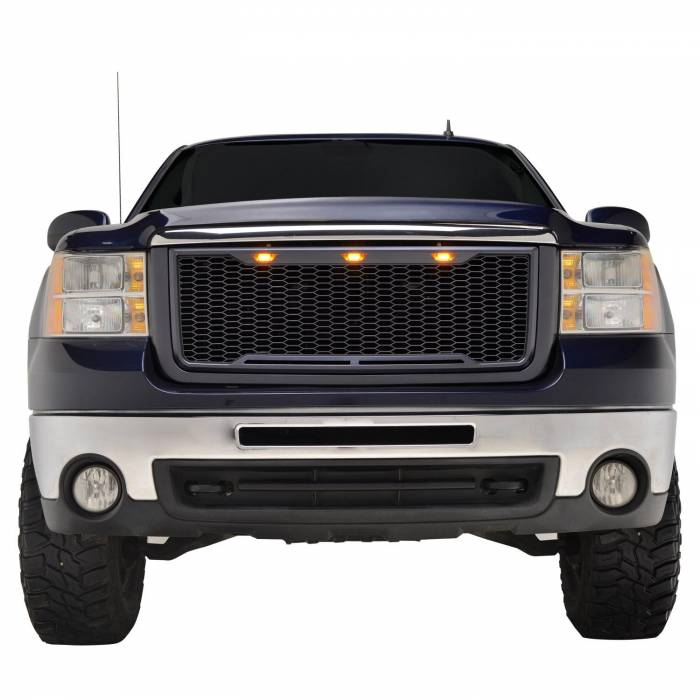 X-T07GHAG000 - ABS LED Matte Black Impulse Packaged Grille #41-0179MB