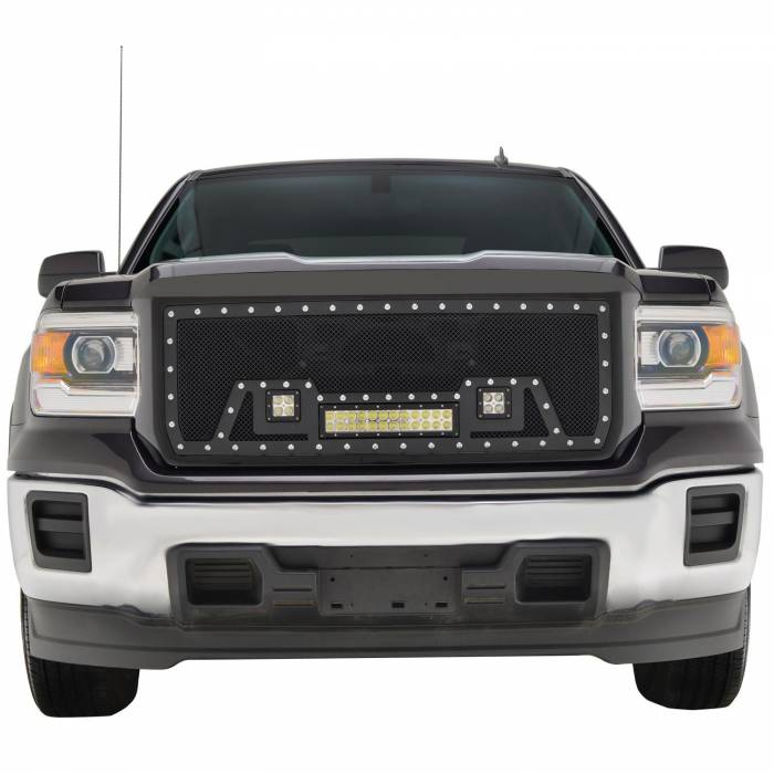 Paramount - Black Evolution Stainless Steel Wire Mesh Packaged Grille w/ LED #48-0851