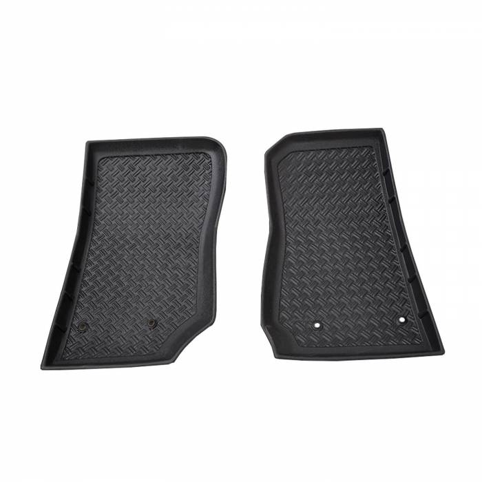 Paramount - 2PCS 2 Door/4 Door Front Floor Liners (Black) #59-0114