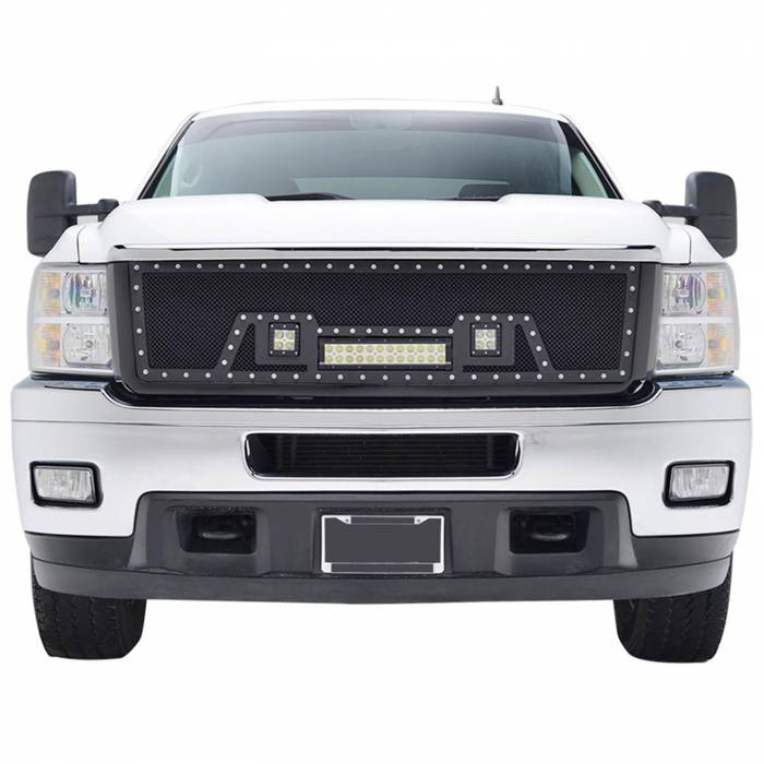 Paramount - Black Evolution Stainless Steel Wire Mesh Packaged Grille w/ LED #48-0835