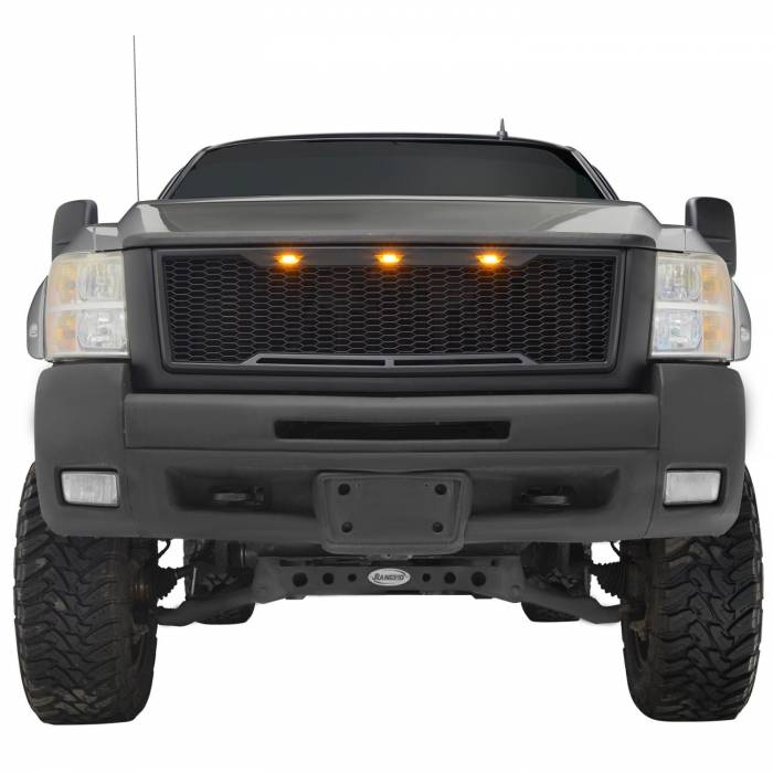 Paramount - ABS LED Matte Black Impulse Packaged Grille #41-0177MB