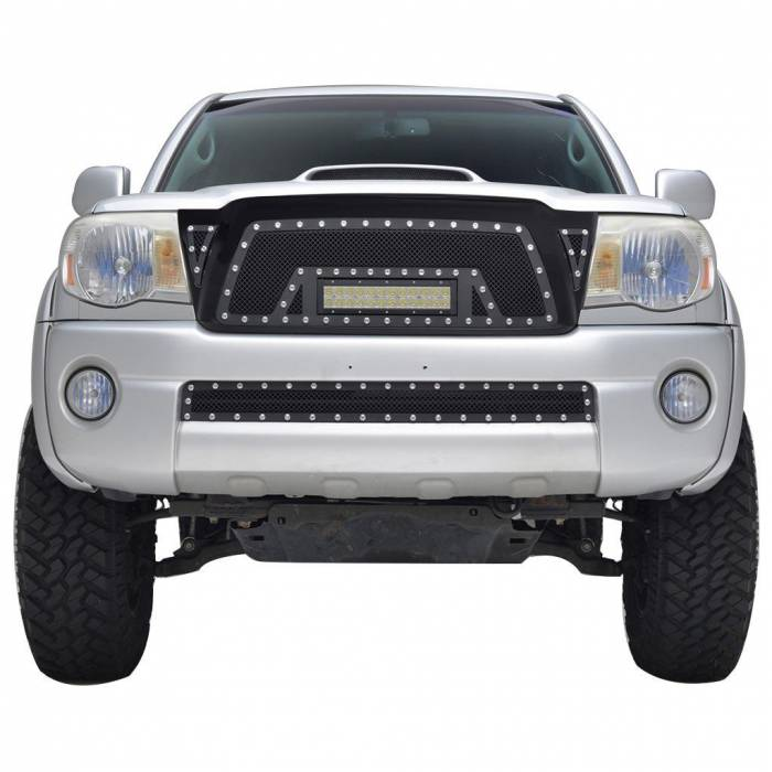 Paramount - Black Evolution Stainless Steel Wire Mesh Packaged Grille w/ LED #48-0819