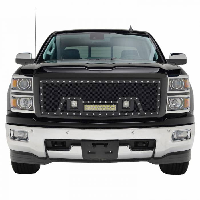 Paramount - Black Evolution Stainless Steel Wire Mesh Packaged Grille w/ LED #48-0843