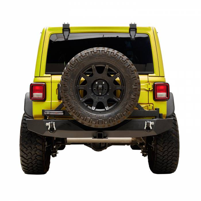 Paramount - Full Width Rear Bumper with Secure Lock Tire Carrier and Adaptor for OE back-up Camara #51-8022