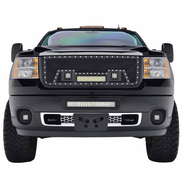 Paramount - Black Evolution Stainless Steel Wire Mesh Packaged Grille w/ LED #48-0842