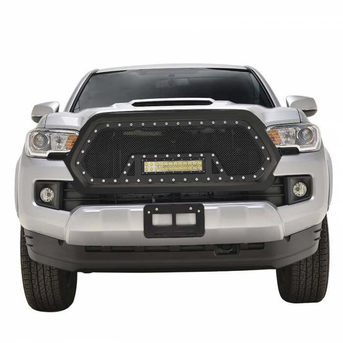 Paramount - Black Evolution Stainless Steel Wire Mesh Packaged Grille w/ LED #48-0856