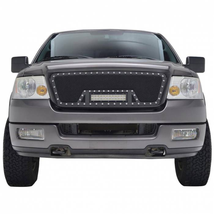 Paramount - 04-08 Ford F-150 Evolution Matte Black Stainless Steel Grille