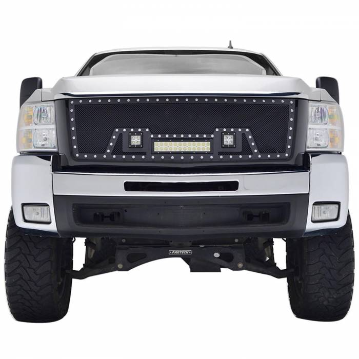 Paramount - 07-10 Chevy Silverado 2500HD/3500HD Evolution Matte Black Stainless Steel Grille