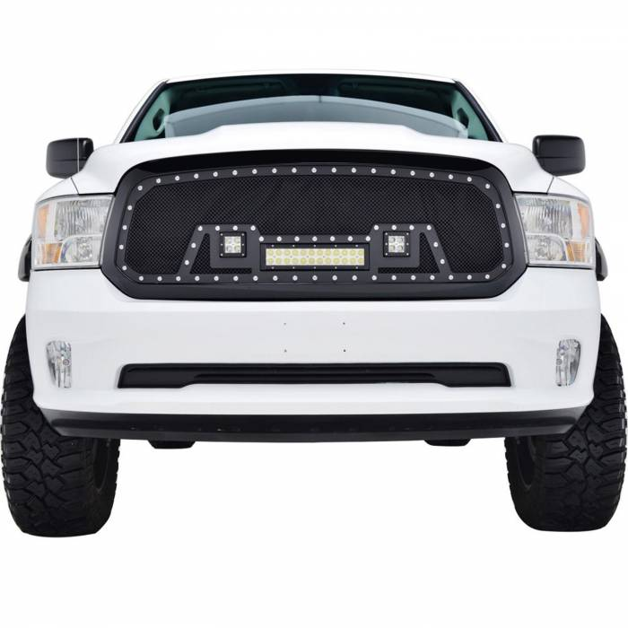 Paramount - 13-18 Dodge Ram 1500 Evolution Matte Black Stainless Steel Grille