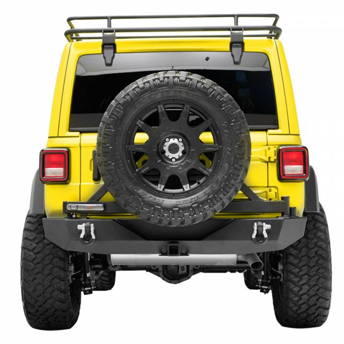 Paramount - 18-21 Jeep Wrangler JL Body Width Rear Bumper with SureGrip Tire Carrier
