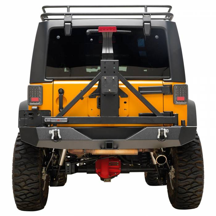 Paramount - 07-18 Jeep Wrangler JK Full-Width Rear Bumper with SureGrip Tire Carrier