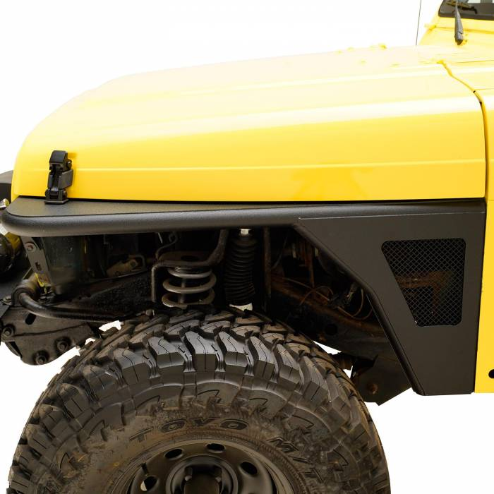 Paramount - 97-06 Jeep Wrangler TJ Front Armor Fender Flares with LED Lights