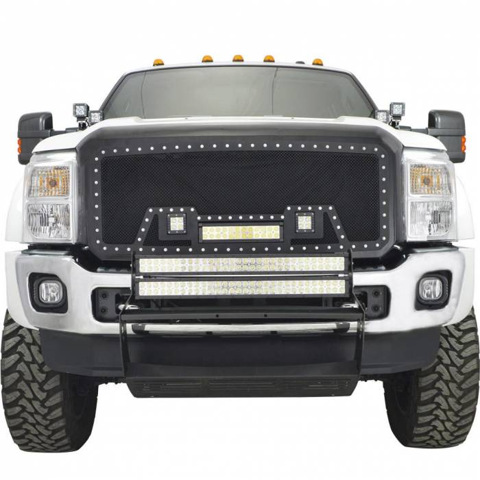 Paramount - 11-16 Ford SuperDuty F-250/350/450/550 Evolution Matte Black Stainless Steel Grille