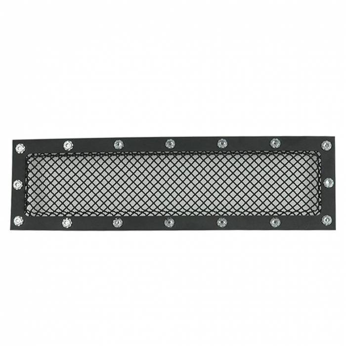 Paramount - 15-19 Ford F150 Evolution Black Stainless Steel Bumper Overlay Grille