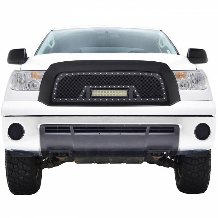 Paramount - 07-09 Toyota Tundra Evolution Matte Black Stainless Steel Grille