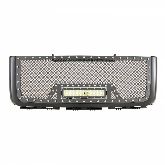 Paramount - 07-10 GMC Sierra 2500HD/3500HD Evolution Matte Black Stainless Steel Grille