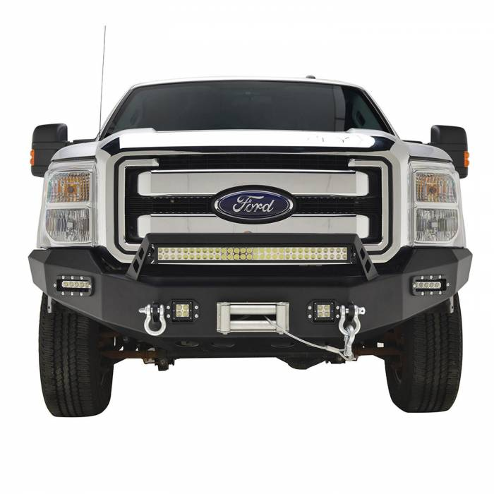 Paramount - 11-16 Ford F-250/F-350/F-450 LED Front Winch Bumper