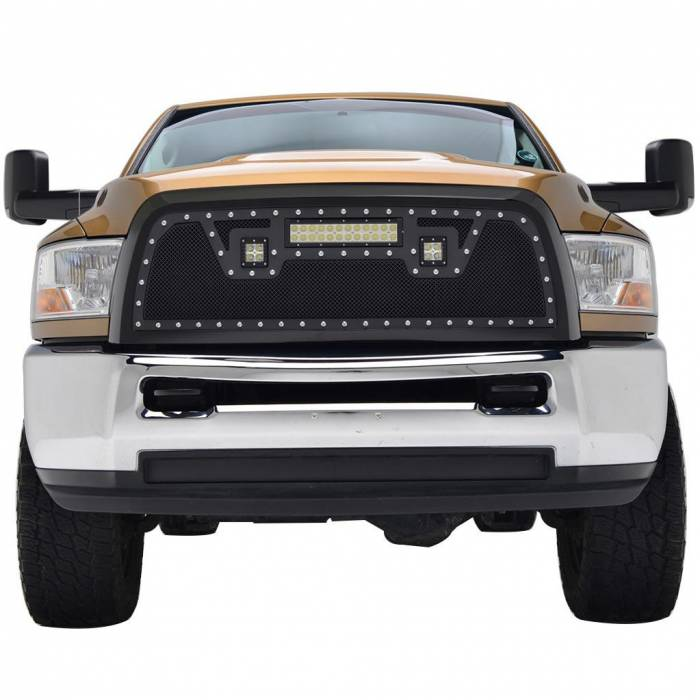 Paramount - 10-12 Dodge Ram 2500/3500 Evolution Matte Black Stainless Steel Grille