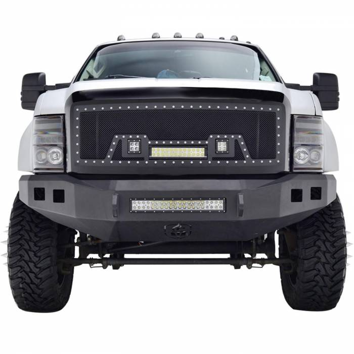 Paramount - 08-10 Ford SuperDuty Evolution Matte Black Stainless Steel Grille