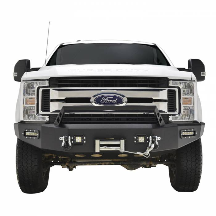 Paramount - 17-19 Ford F-250/F-350/F-450 LED Front Winch Bumper