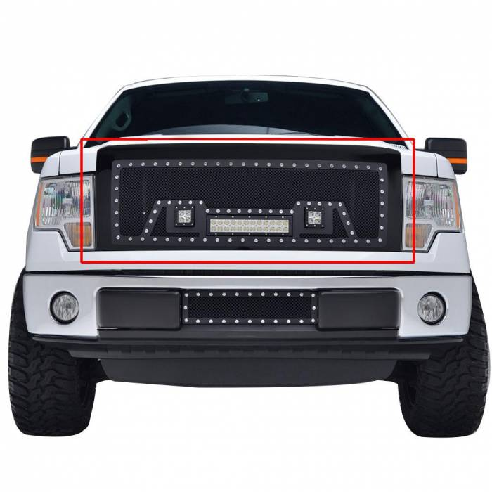 Paramount - 09-14 Ford F-150 Evolution Matte Black Stainless Steel Grille
