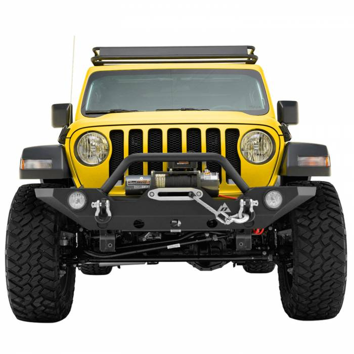 Paramount - 18-21 Jeep Wrangler JL/JT Mid-Width Front Bumper with OE Fog Light Provision
