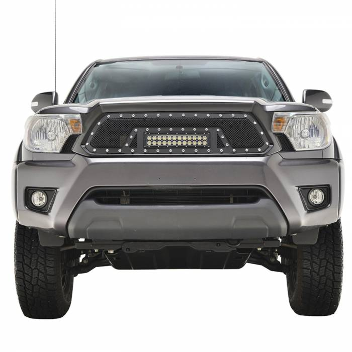 Paramount - 12-15 Toyota Tacoma Evolution Matte Black Stainless Steel Grille